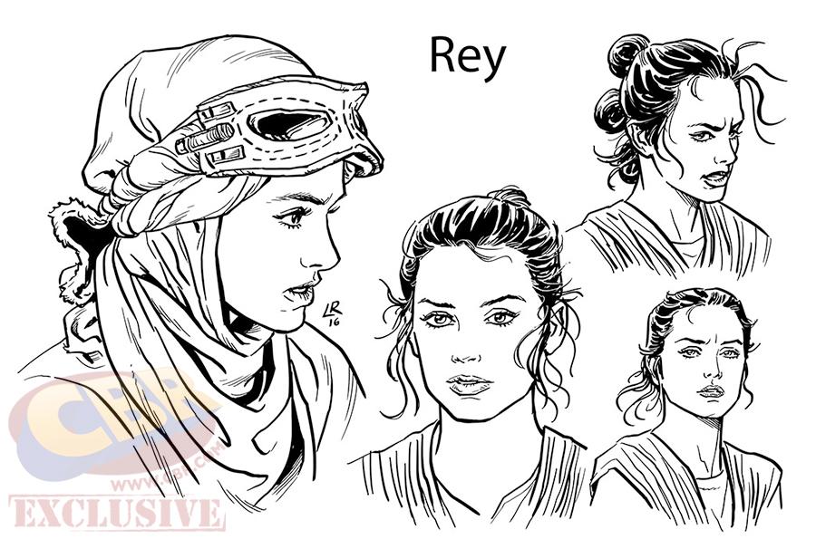 il risveglio della Forza adattamento fumetti Rey