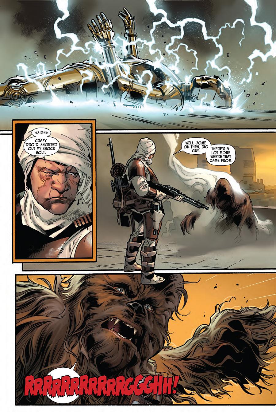 Star Wars 11 Dengar vs Chewie