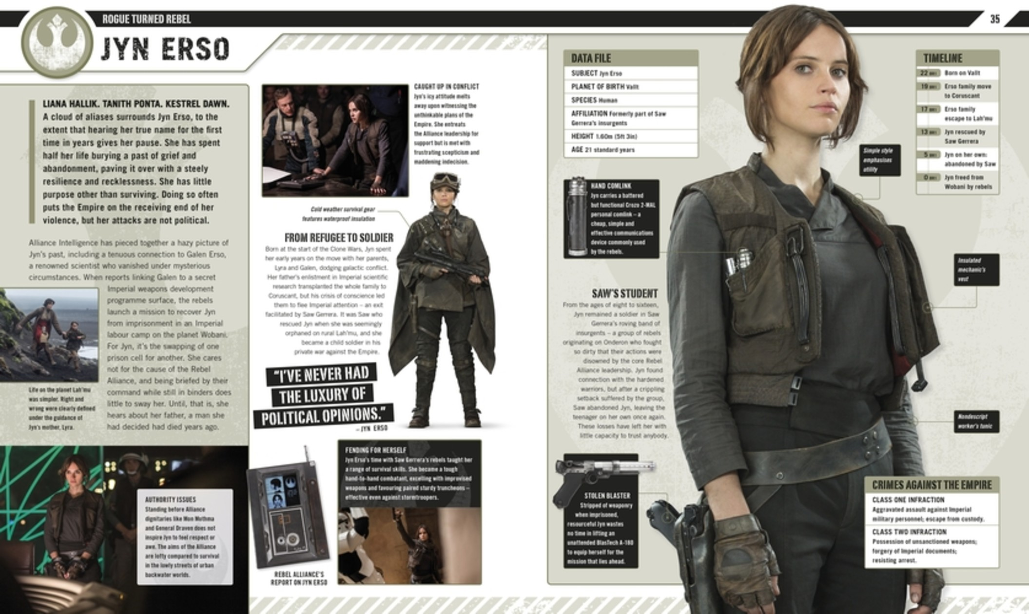 rogue one: the Ultimate Visual Guide Jyn