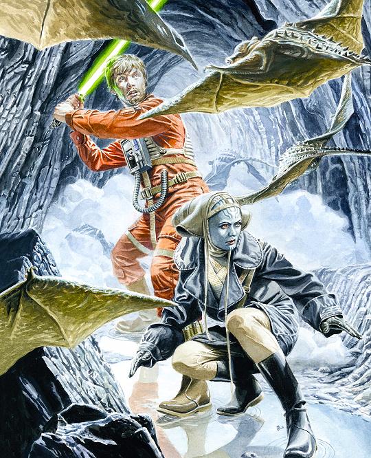 le leggende di luke skywalker illustrazione