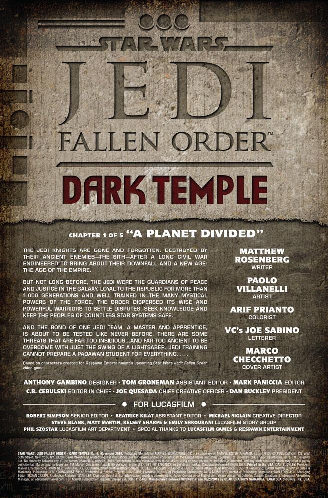 jedi: fallen order - dark temple pagina 1