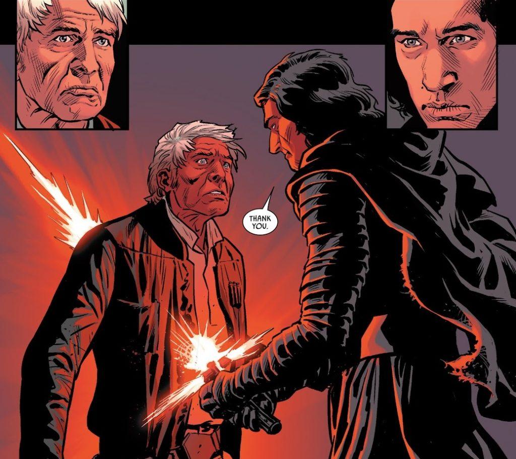 ascesa di skywalker Morte Han Solo Kylo Ren Il Risveglio della Forza Marvel