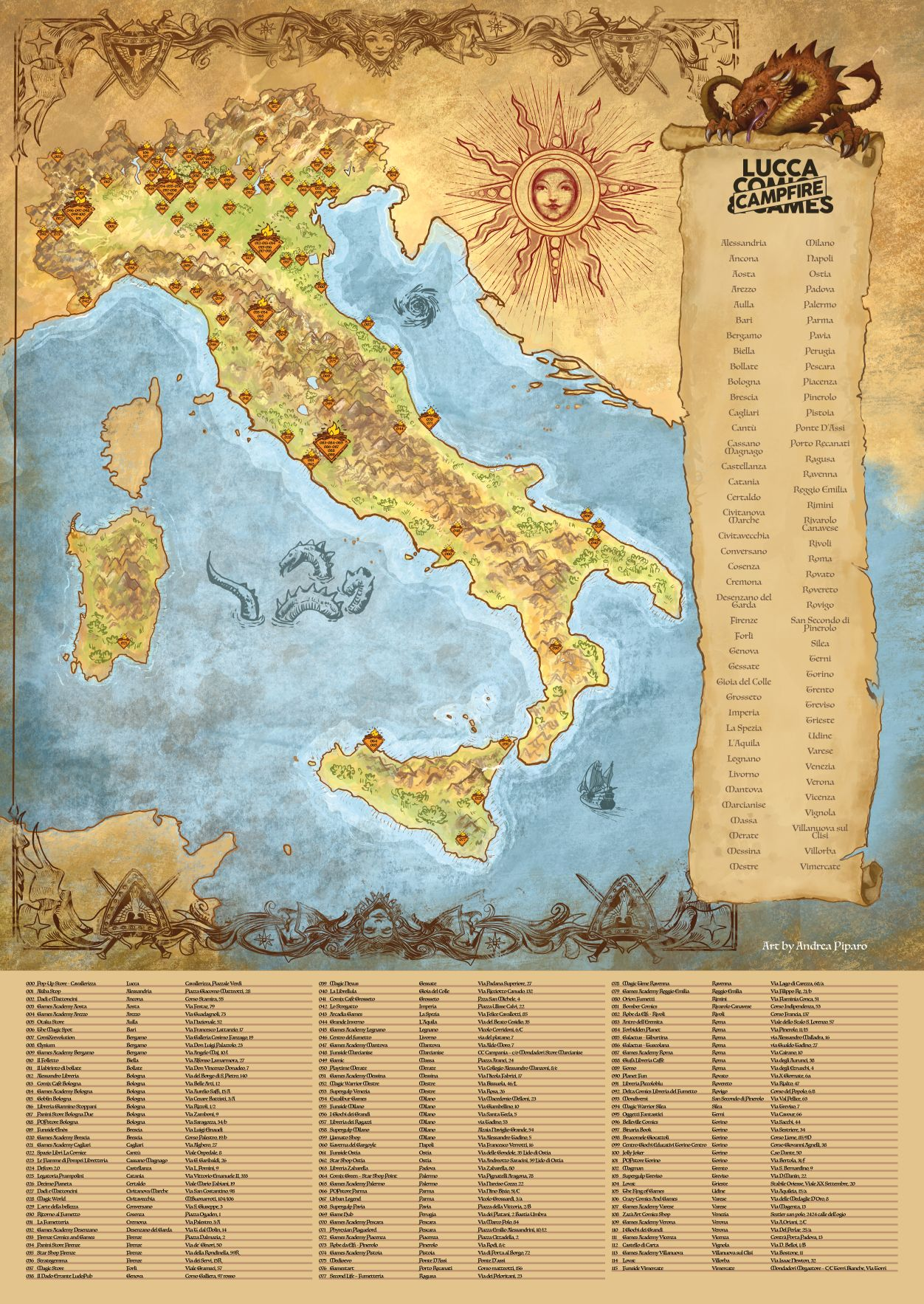 Lucca Comica&Games 2020 Campfire lista
