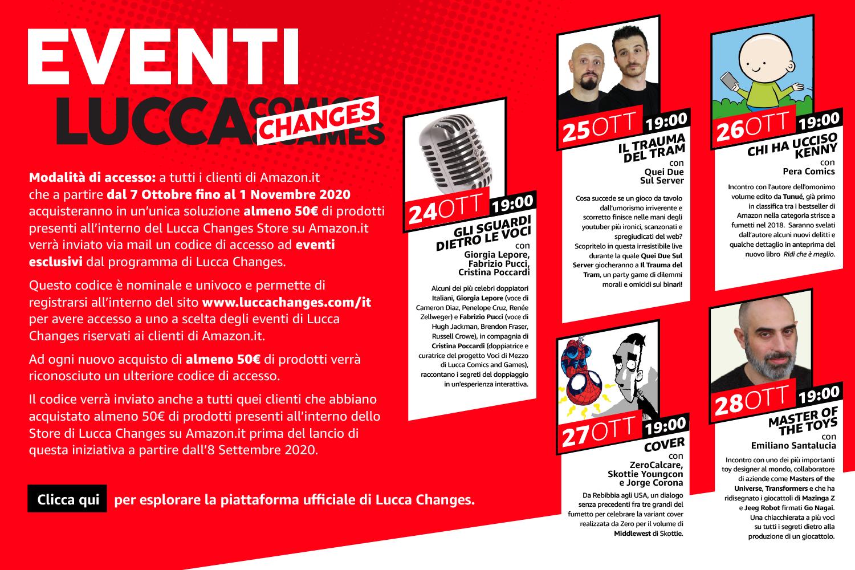 Lucca Comics & Games 2020 Eventi Amazon