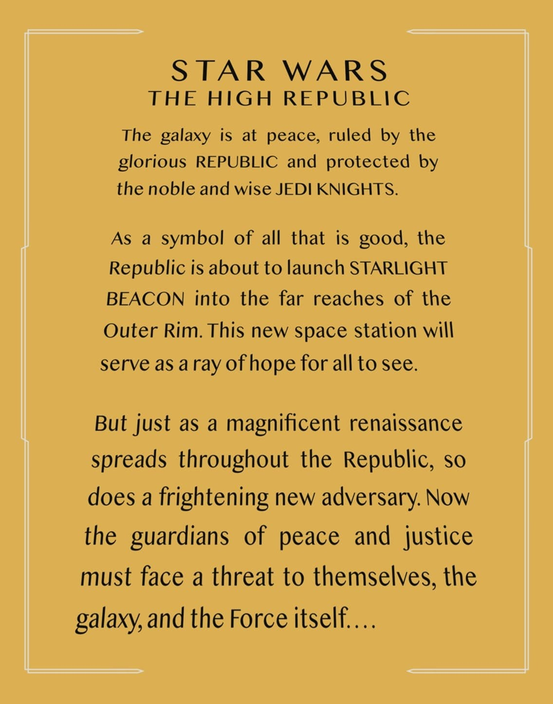 The High Republic crawl
