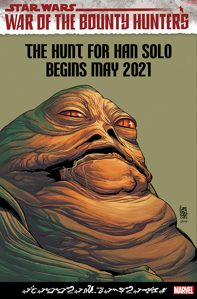 Jabba the Hutt War of the Bounty Hunters cover variant Camuncoli