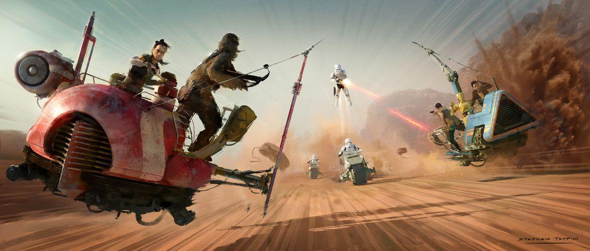 Art of The Rise of Skywalker speeder Pasaana